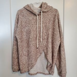 Tristan - Wrap Front, Hooded Sweater